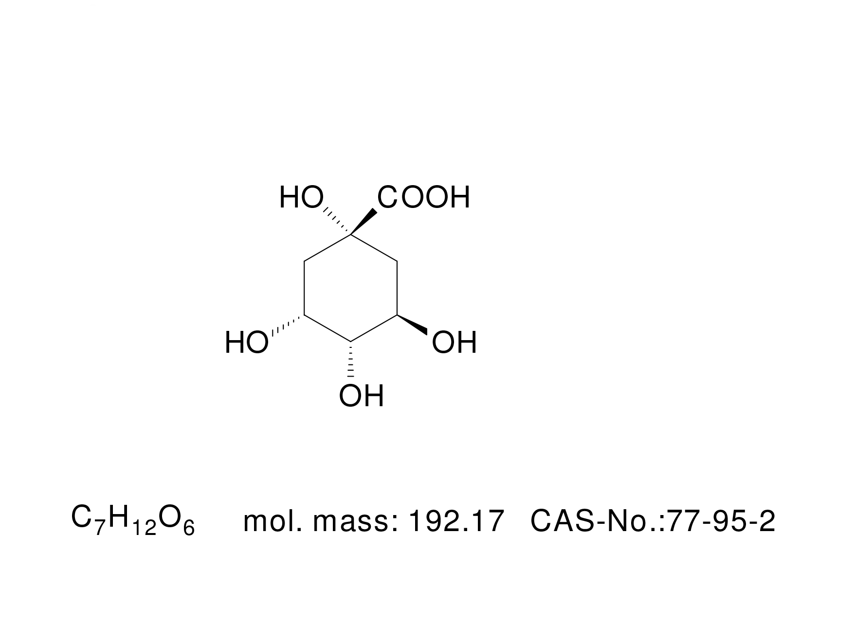 Quinic Acid - Chemical Structure