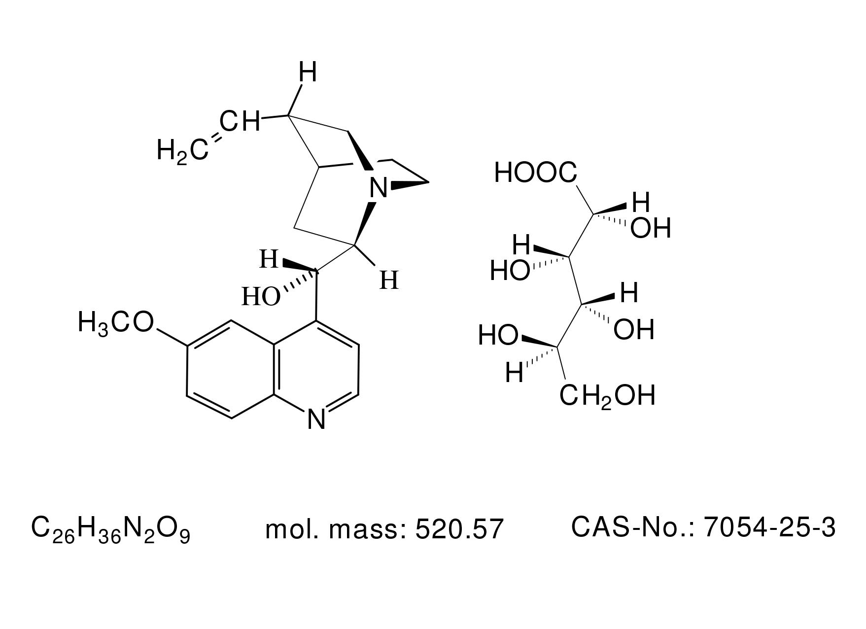 Quinidine Gluconate - Chemical Structure